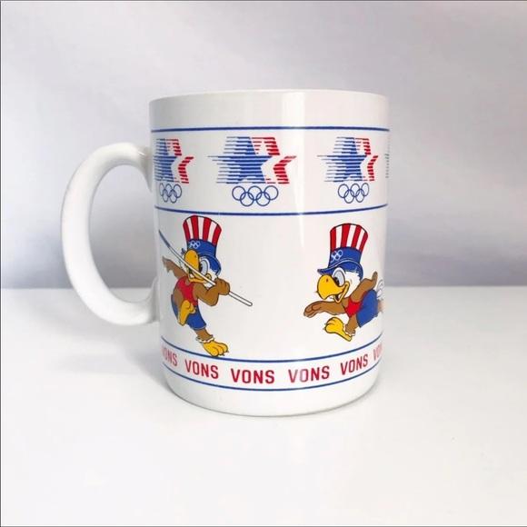 Vintage 80s Sam the Olympic Eagle Collectible Mug